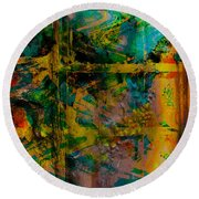 Abstract - Emotion - Facade Round Beach Towel