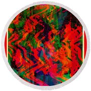 Abstract - Emotion - Rage Round Beach Towel