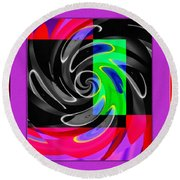 Abstract En Coulor Round Beach Towel