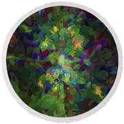 Abstract Series Ex1 Round Beach Towel