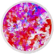 Abstract Series Ex2 Round Beach Towel
