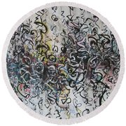Abstract Expressionism 221 Round Beach Towel