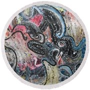 Abstract Expressionsim 02 Round Beach Towel