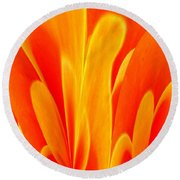 Abstract Fire Round Beach Towel