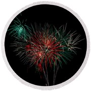 Abstract Fireworks Round Beach Towel