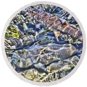 Abstract Fish 3 Round Beach Towel