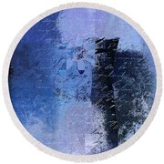 Abstract Floral - 04tl4t2b Round Beach Towel