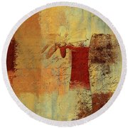 Abstract Floral - 14v4i-t2b2 Round Beach Towel