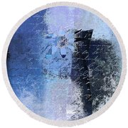 Abstract Floral - Bl3v3t1 Round Beach Towel