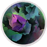 Abstract Floral Expression 041213 Round Beach Towel