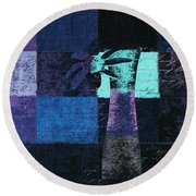Abstract Floral - H15bt3 Round Beach Towel