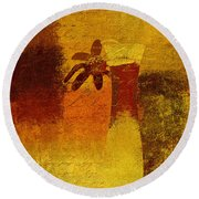 Abstract Floral - P01bt01c11c Round Beach Towel