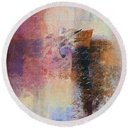 Abstract Floral - Xs01bt2 Round Beach Towel