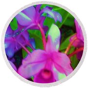 Abstract Flowers Round Beach Towel