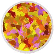 Abstract Footprints Round Beach Towel