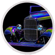 Abstract Ford - Classic Hotrods Round Beach Towel