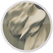 Abstract Form 051114 Round Beach Towel