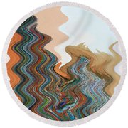 Abstract  Four Of Twenty One Round Beach Towel