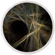 Abstract Fractal Background 01 Round Beach Towel