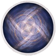 Abstract Fractal Background 17 Round Beach Towel