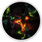 Abstract Fractals Round Beach Towel