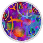 Abstract Fractillious - Episode One  Southwestern Round Beach Towel