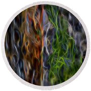 Abstract From The Sea Round Beach Towel