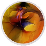 Abstract From Within Round Beach Towel