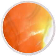Abstract Frosted Sunlight Round Beach Towel