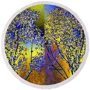 Abstract Fusion 100 Round Beach Towel