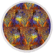 Abstract Fusion 142  Round Beach Towel