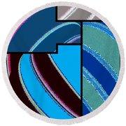 Abstract Fusion 143 Round Beach Towel