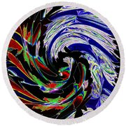 Abstract Fusion 161   Round Beach Towel