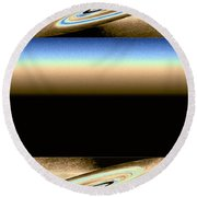 Abstract Fusion 163 Round Beach Towel