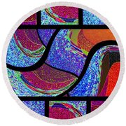 Abstract Fusion 168 Round Beach Towel