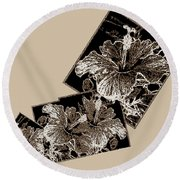 Abstract Fusion 169 Round Beach Towel