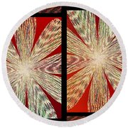 Abstract Fusion 171 Round Beach Towel