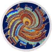Abstract Fusion 176 Round Beach Towel