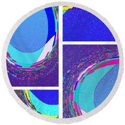 Abstract Fusion 178 Round Beach Towel