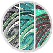 Abstract Fusion 180 Round Beach Towel