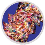 Abstract Fusion 189 Round Beach Towel