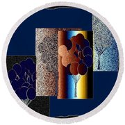 Abstract Fusion 191 Round Beach Towel