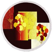 Abstract Fusion 192 Round Beach Towel