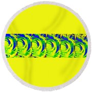 Abstract Fusion 195 Round Beach Towel by Will Borden