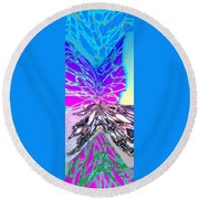 Abstract Fusion 196 Round Beach Towel by Will Borden