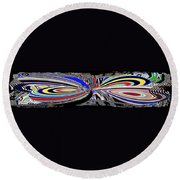 Abstract Fusion 197 Round Beach Towel by Will Borden