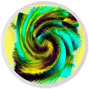 Abstract Fusion 201 Round Beach Towel