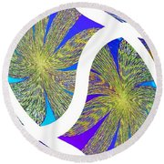 Abstract Fusion 203 Round Beach Towel