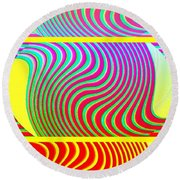 Abstract Fusion 205 Round Beach Towel