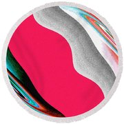 Abstract Fusion 208 Round Beach Towel